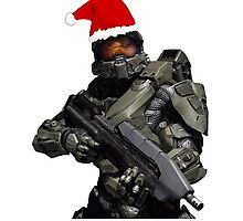 Master Chief Christmas Photographic Print