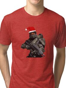 Master Chief Christmas Tri-blend T-Shirt