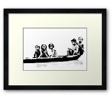 Boat Children Framed Print