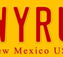 License Plate - LWYRUP Sticker