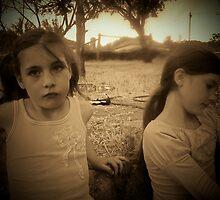 Girls in the garden by Peta Hurley-Hill
