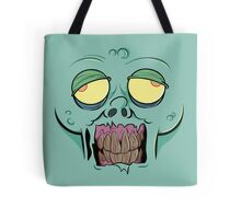 Zombie face with a Messed up Mouth Tote Bag