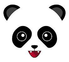 White Kawaii Panda by HeadOut