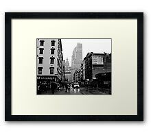 West Broadway & Chambers Framed Print