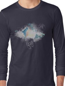 Toothless and Stitch - Where no one goes Long Sleeve T-Shirt