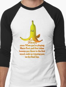 Mario Kart Banana - Karma Joke Men's Baseball ¾ T-Shirt