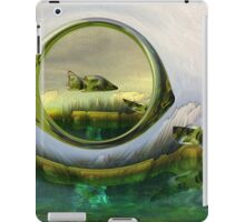 Slipping thru time like sun rays on glass iPad Case/Skin