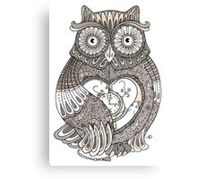 The Timely Owl Tee Canvas Print