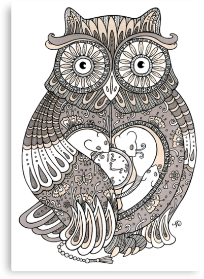 The Timely Owl Tee by Anita Inverarity