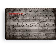 Mozart notes Canvas Print