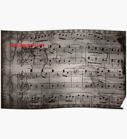 Mozart notes Poster