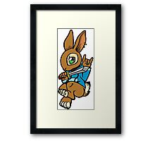 Sword Bunny Shirt Framed Print