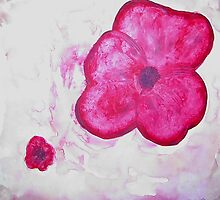 Red Pansy by Paulinequinnin