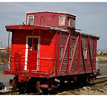the Last Caboose Photographic Print