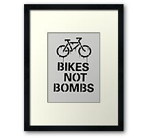 BIKES NOT BOMBS Framed Print