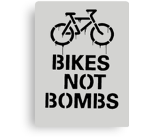 bikes not bombs Canvas Print