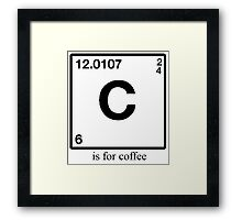 C is for Coffee Framed Print