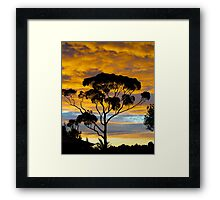 RIP. Sunset from my Kitchen window. Framed Print