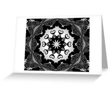 black lace Greeting Card