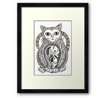 Contented Cat Tee Framed Print