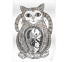 Contented Cat Tee Poster