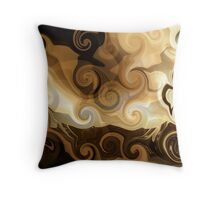 coffee with cream Throw Pillow