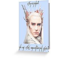 Thranduil, King of the Woodland Realm Greeting Card