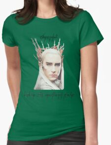 Thranduil, King of the Woodland Realm Womens Fitted T-Shirt