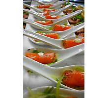 Hors d'œuvre - Smoked Salmon - Christchurch NZ Photographic Print