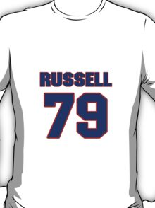 National football player Rusty Russell jersey 79 T-Shirt
