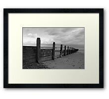 Tidal Defences B&W Framed Print
