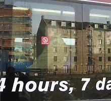 In a bus window by Yonmei