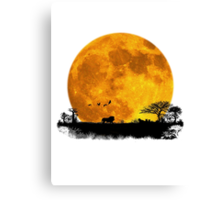 African Moonrise Canvas Print