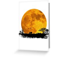 African Moonrise Greeting Card