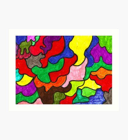 Vivid Puzzle Art Print
