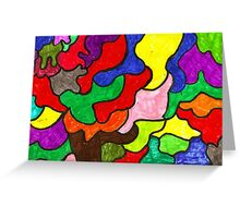 Vivid Puzzle Greeting Card