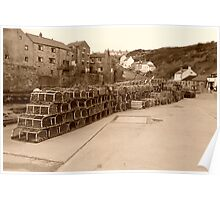 Lobster pots Staithes, North Yorkshire. Poster