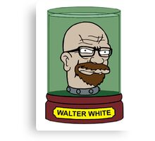 Walter White Futurama Jar Head Mashup Canvas Print