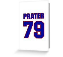 National football player Dean Prater jersey 79 Greeting Card