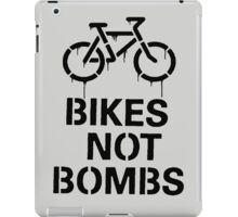bikes not bombs iPad Case/Skin