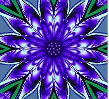 Heart shaped petals Flower kaleidoscope  by walstraasart