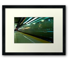 A Commuter Express Train Framed Print