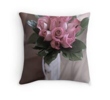 Bride and Bouquet Throw Pillow
