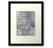 Monk (Up Close) Framed Print