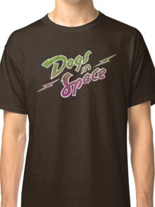 Dogs In Space - Green Purple Classic T-Shirt
