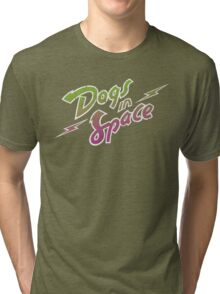 Dogs In Space - Green Purple Tri-blend T-Shirt