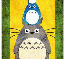 Tower of Totoro by hylianjess