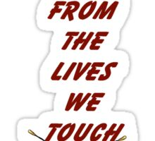 Our Fingerprints Never Fade From The Lives We Touch! - Butterfly T-Shirt NZ Sticker