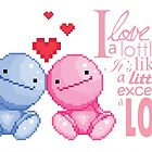 Nohohon : I love you a lottle it's like a lottle except a lot by studinano