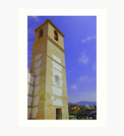 Bell Tower, Casares, Andalucia, Spain Art Print